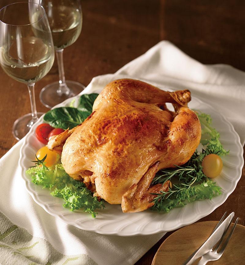 オーブンでつくる純輝鶏ローストチキン レシピ画像
