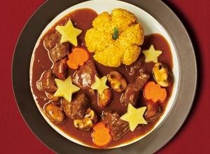 ハロウィンデコの欧風カレー レシピ画像