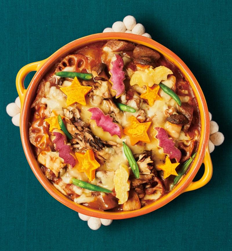 ハロウィンデコの印度風カレードリア レシピ画像
