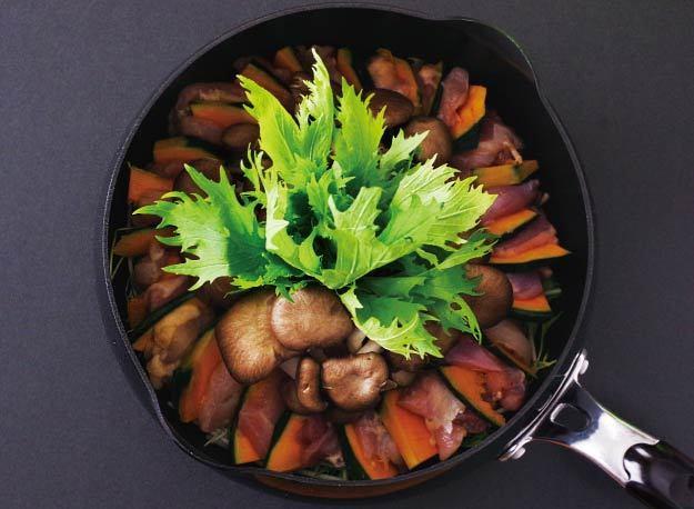 鶏かぼちゃ鍋 レシピ画像