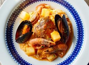 魚介のトマトリゾット レシピ画像