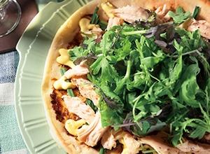 サラダチキンと海苔の和風ピザ
