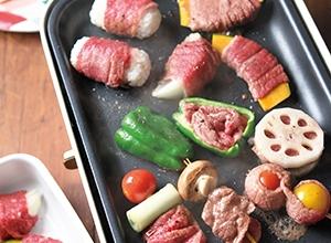 牛串ホットプレートパーティー レシピ画像