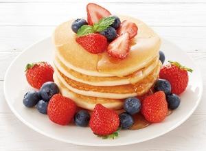 第5位 米粉でふわもち!「おこめでつくったケーキミックス粉」を使ってホットケーキタワー レシピ画像