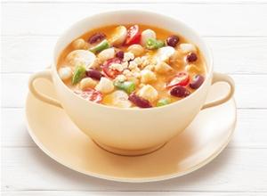 具だくさんのトマトクリームスープ レシピ画像