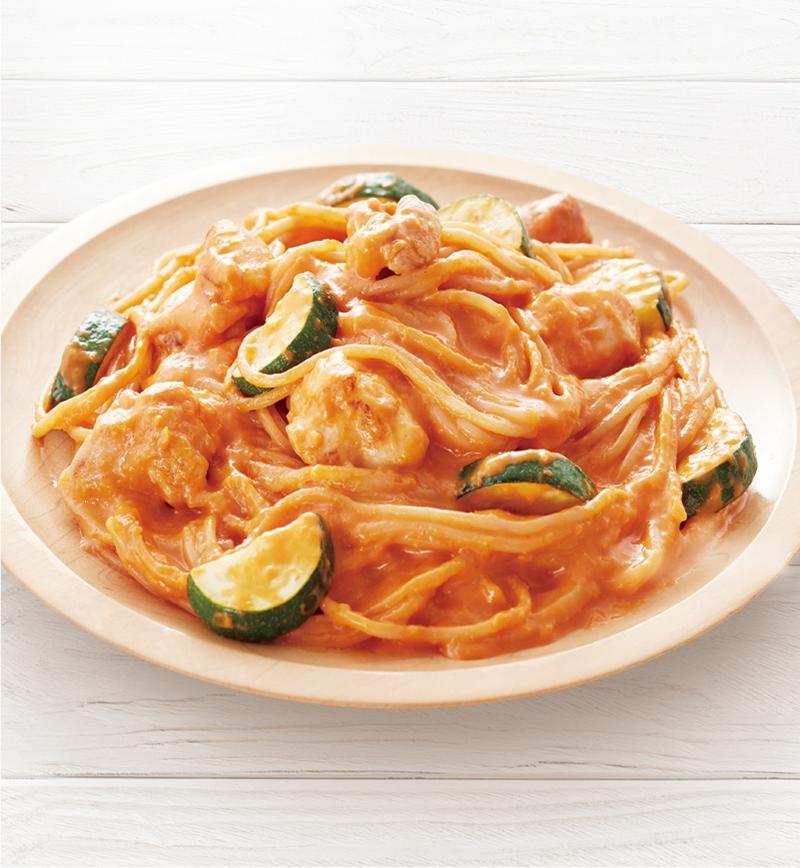 トマトクリームソーススパゲッティ レシピ画像