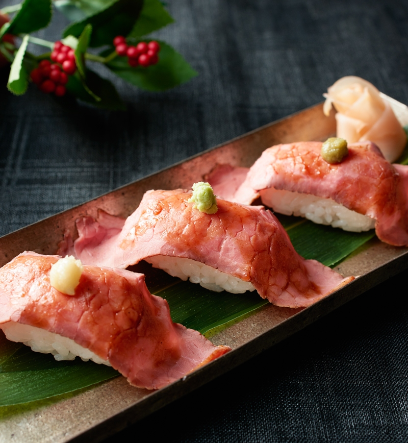 ローストビーフの肉寿司 レシピ画像