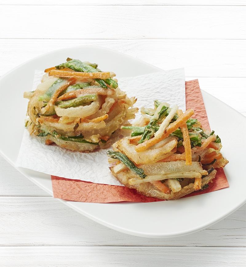 いろいろ野菜のかき揚げ レシピ画像