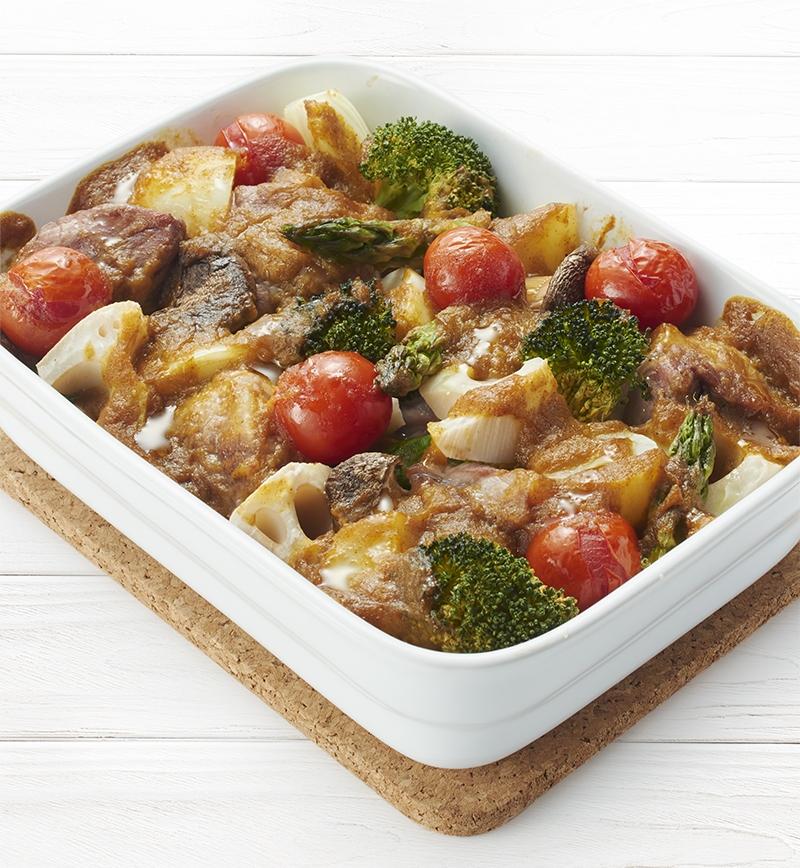 豚肉といろいろ野菜のギュッと焼き レシピ画像