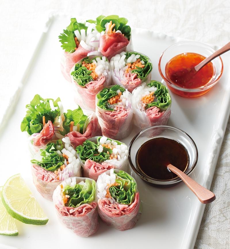 ローストビーフの生春巻き レシピ画像
