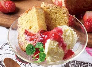 ベリーのパウンドケーキ バニラ添え レシピ画像