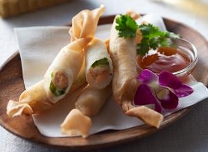 えびとチーズのスティック春巻 レシピ画像