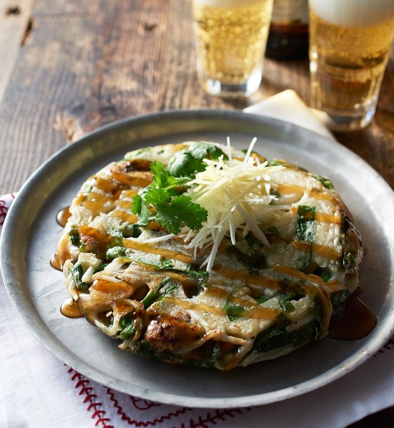 牡蠣入りエスニックお好み焼き レシピ画像