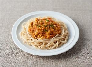 もちもち麺のミートソース レシピ画像