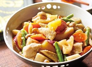 純輝鶏むね肉と秋野菜の煮物 レシピ画像