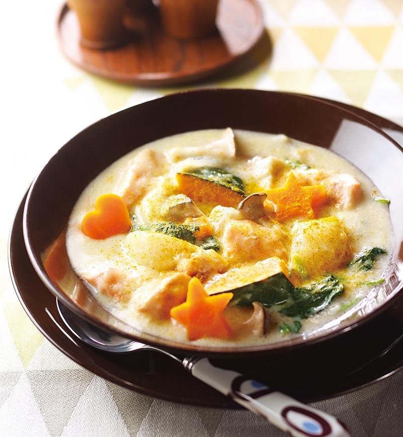 サーモンと野菜の具だくさんシチュー レシピ画像