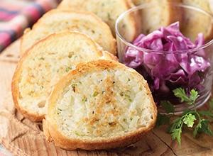 チーズリゾットのスタッフドバゲット レシピ画像