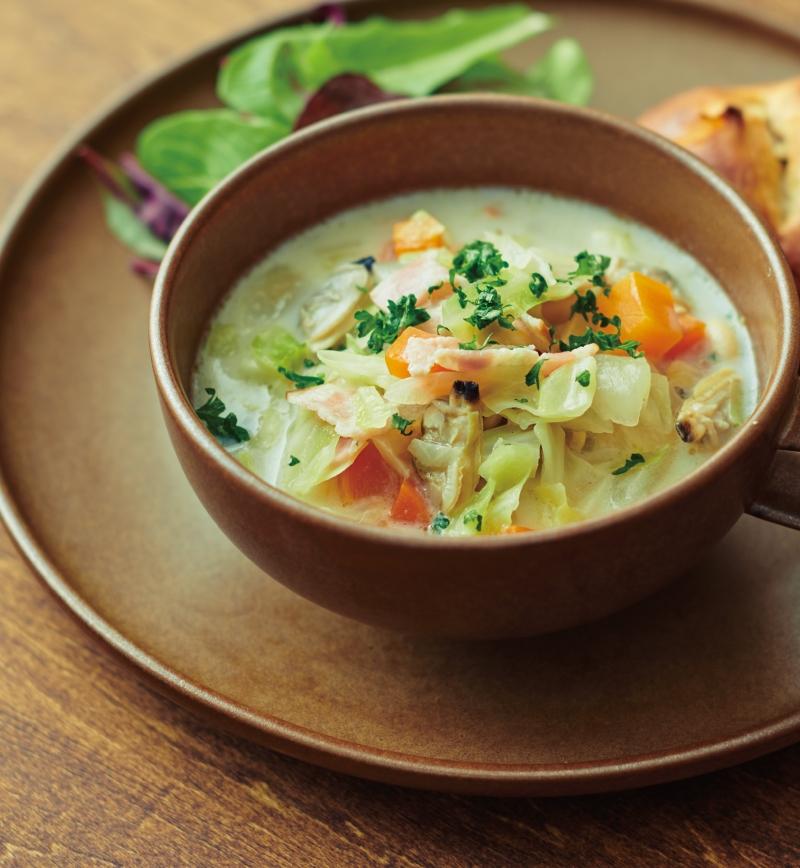 豆乳スープ ~チャウダー風~ レシピ画像
