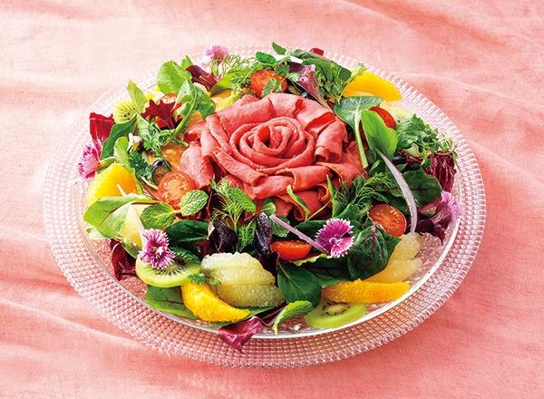 花咲くローズパンケーキ レシピ画像