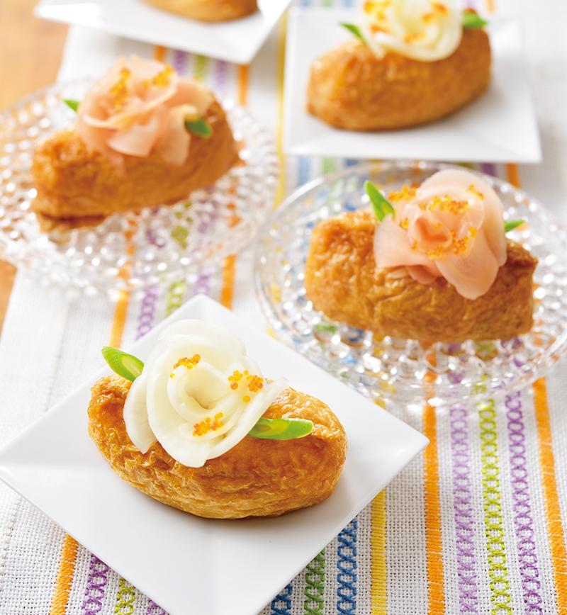 バラ咲くいなり寿司 レシピ画像