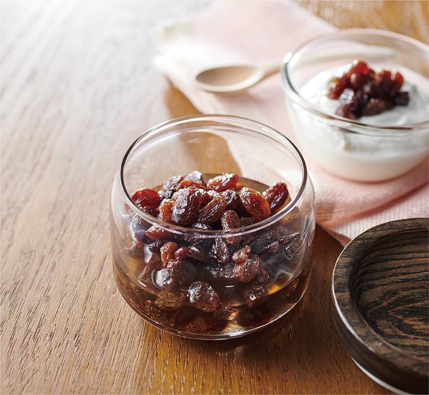 干しぶどう酢 レシピ画像