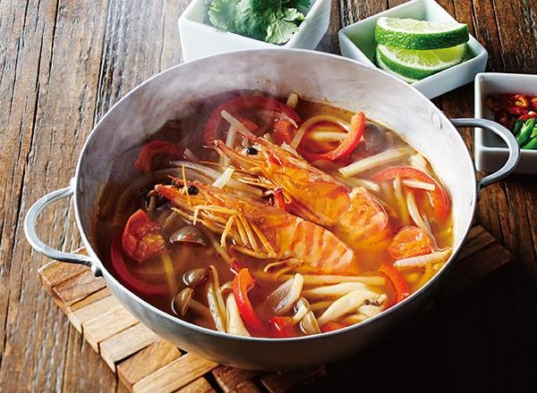 トムヤムスープの素でトムヤムクン レシピ画像