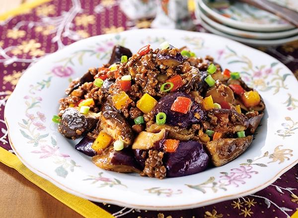 椎茸と茄子の麻婆炒め レシピ画像