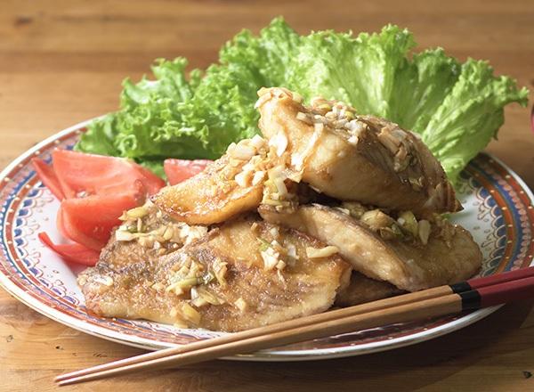 いずみ鯛のからあげ 中華ねぎソースがけ レシピ画像