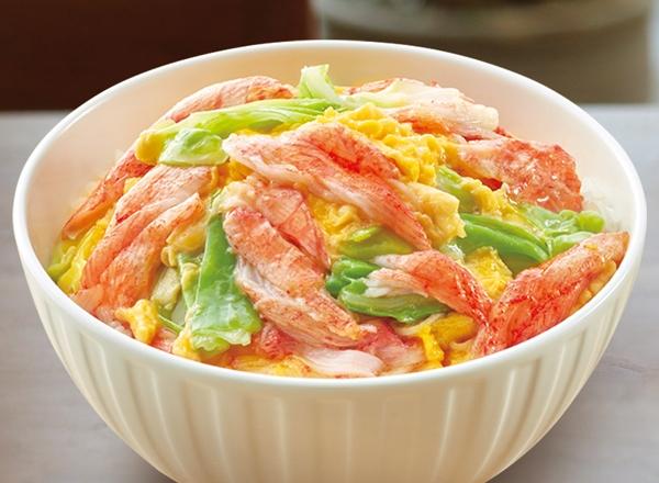かにかま卵丼 レシピ画像