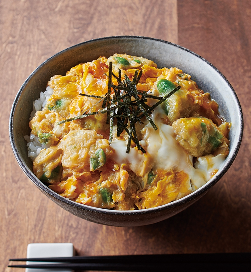 ちぎり揚げの親子丼風 レシピ画像