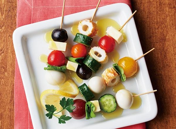 ちくわとうずらとチーズのピンチョス レシピ画像
