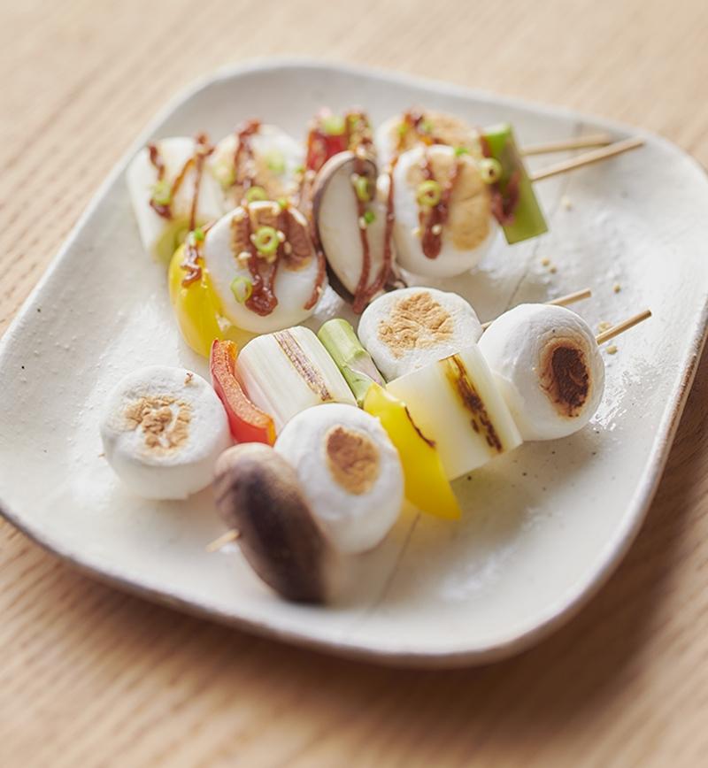 焼き鳥風はんぺんの串焼き レシピ画像