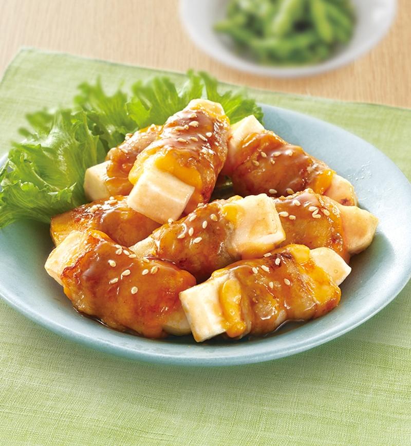 はんぺんのチーズ肉巻き レシピ画像