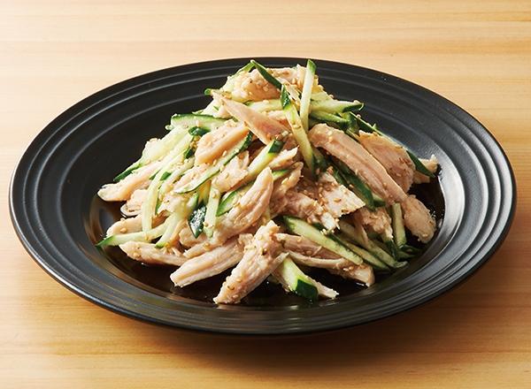 第5位 サラダチキンでつくる!きゅうりとごまたっぷりのナムル風 レシピ画像