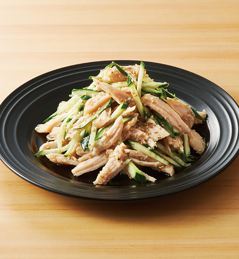 サラダチキンでつくる!きゅうりとごまたっぷりのナムル風 レシピ画像