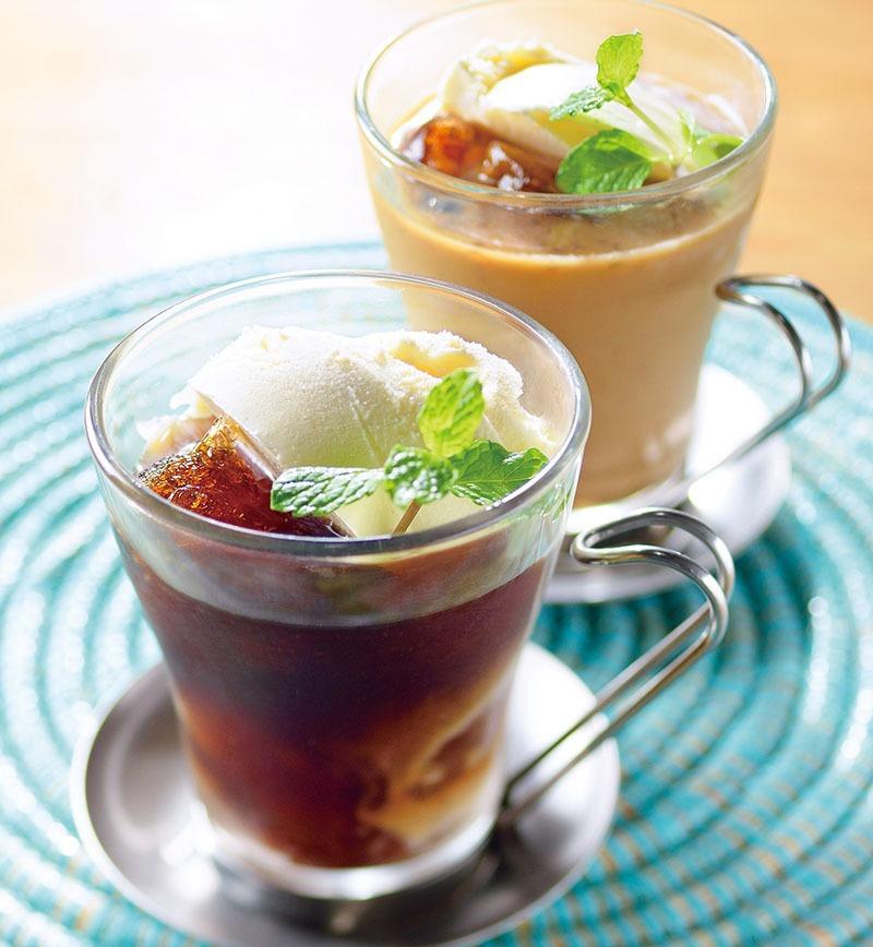 コーヒーゼリーフロート レシピ画像
