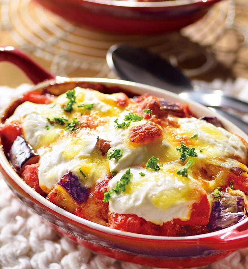 なすとトマトの麻婆ヨーグルトドリア レシピ画像