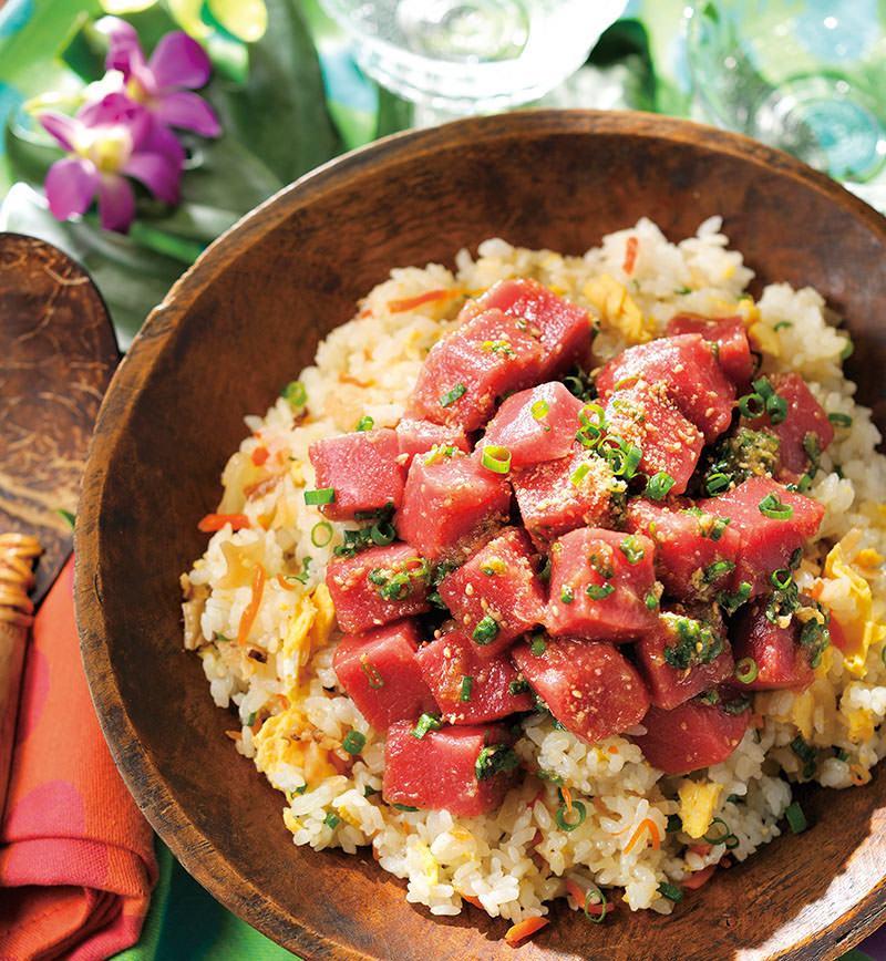 まぐろのポキのっけちらし寿司 レシピ画像