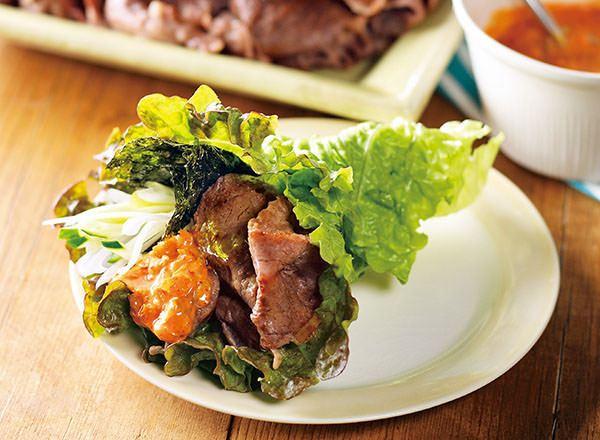 タスマニアビーフの手巻きサムギョプサル風 レシピ画像