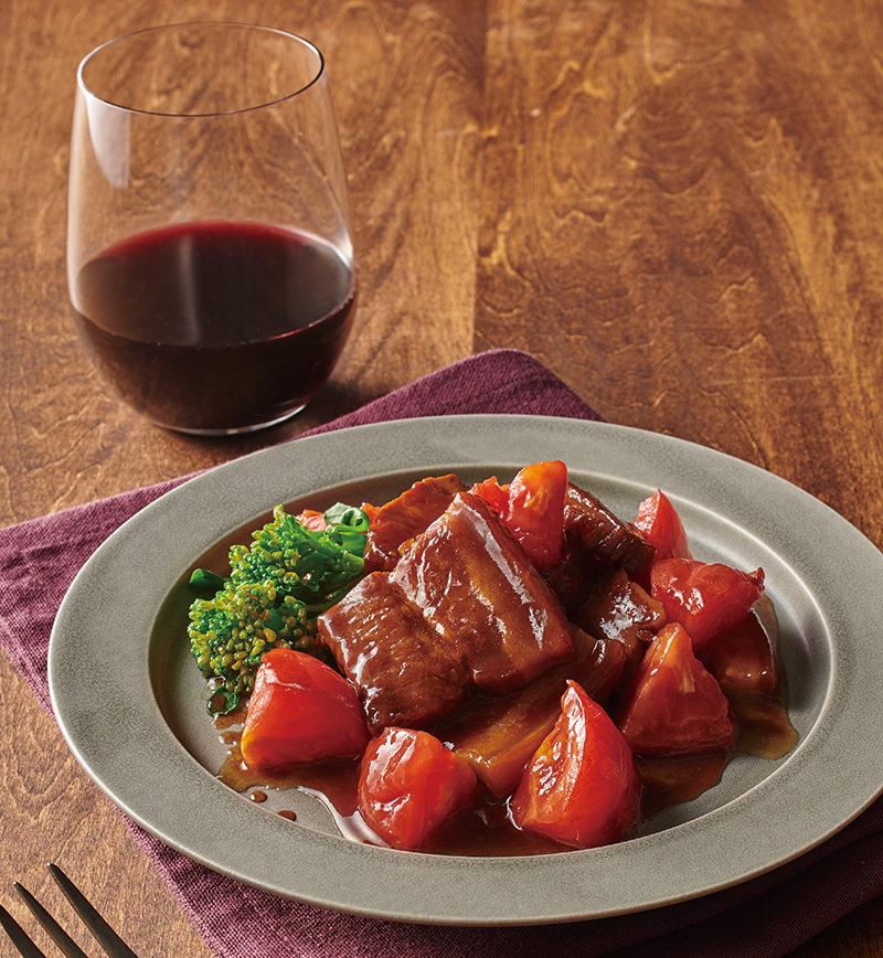 バルサミコ酢とトマトのさっぱり角煮 レシピ画像