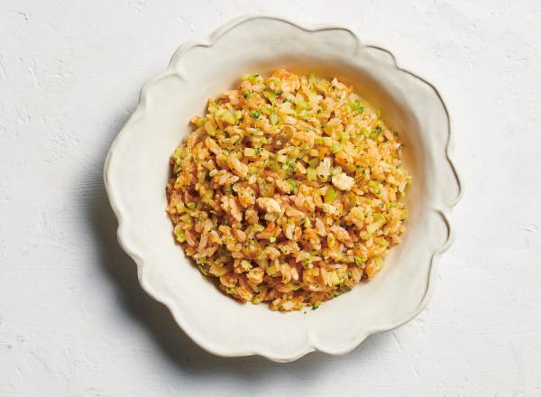 1/3をブロッコリーに置きかえた チキンライス レシピ画像