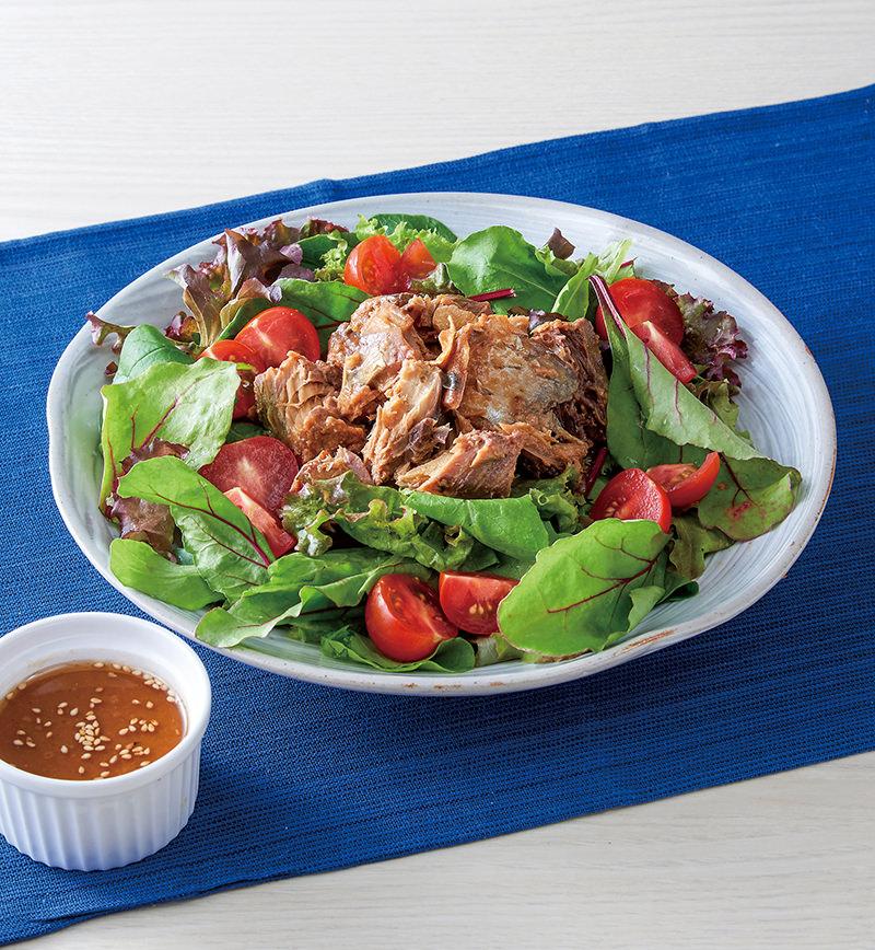 たっぷり野菜とさば缶のサラダ レシピ画像