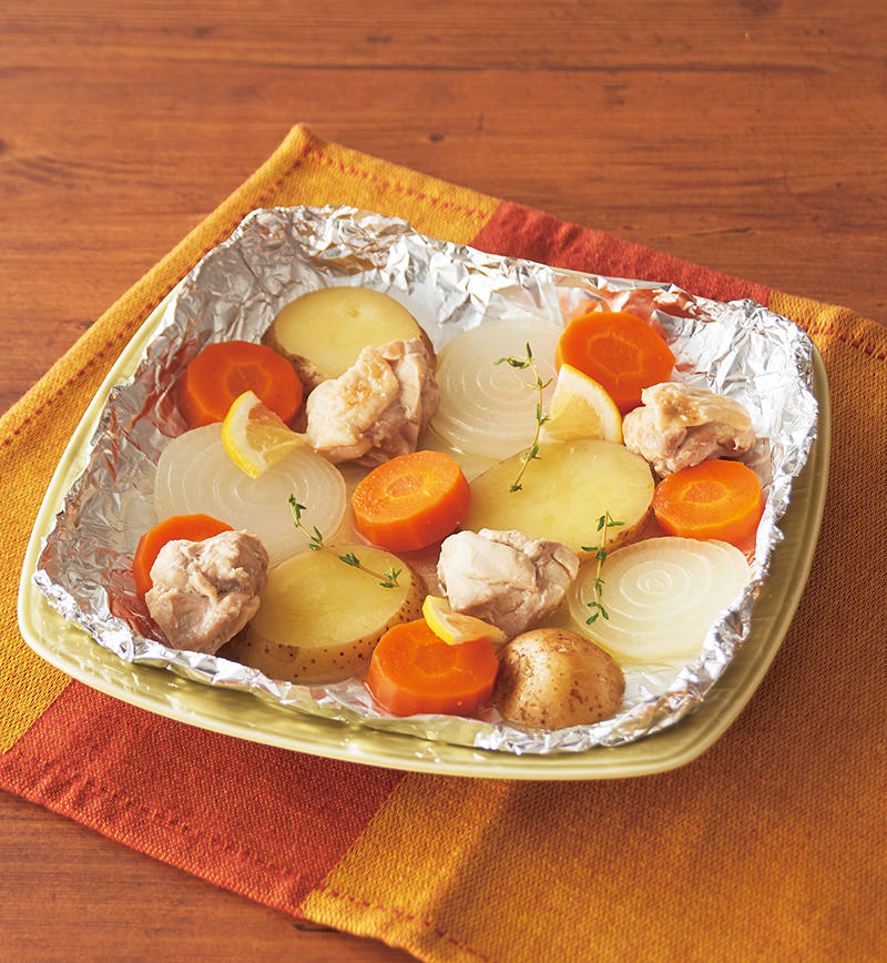 新物野菜のホイル蒸し レシピ画像
