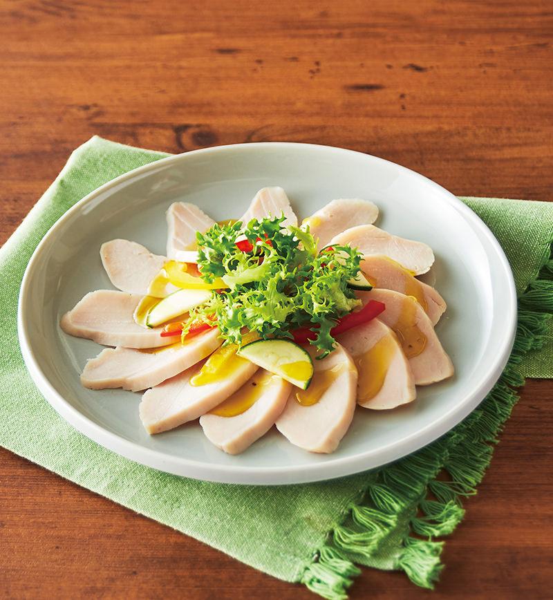 サラダチキンのカルパッチョ レシピ画像