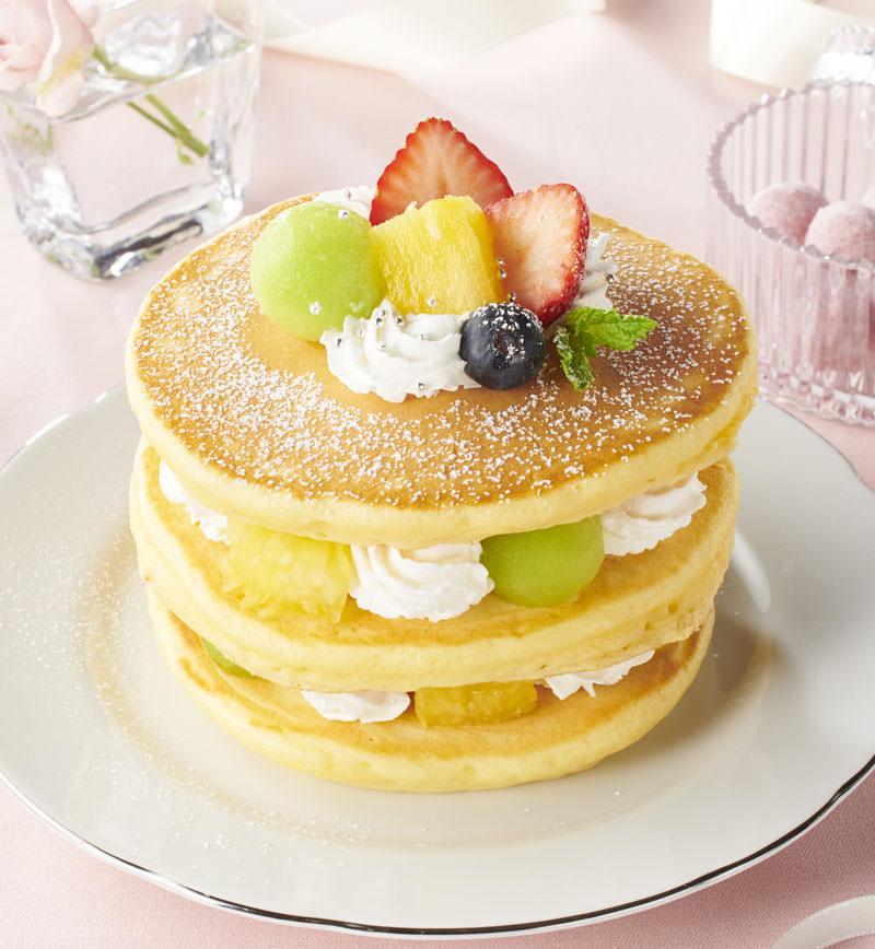 重ねて楽しい!デコレーションホットケーキ レシピ画像