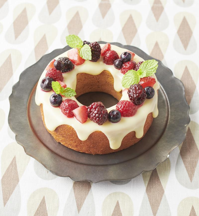 バウムクーヘンdeリースケーキ レシピ画像