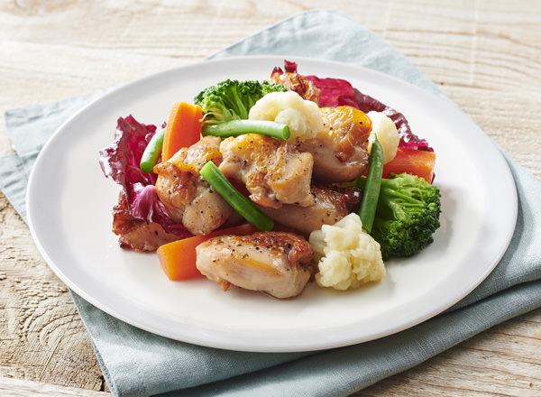 純輝鶏ローストチキンのホットサラダ レシピ画像