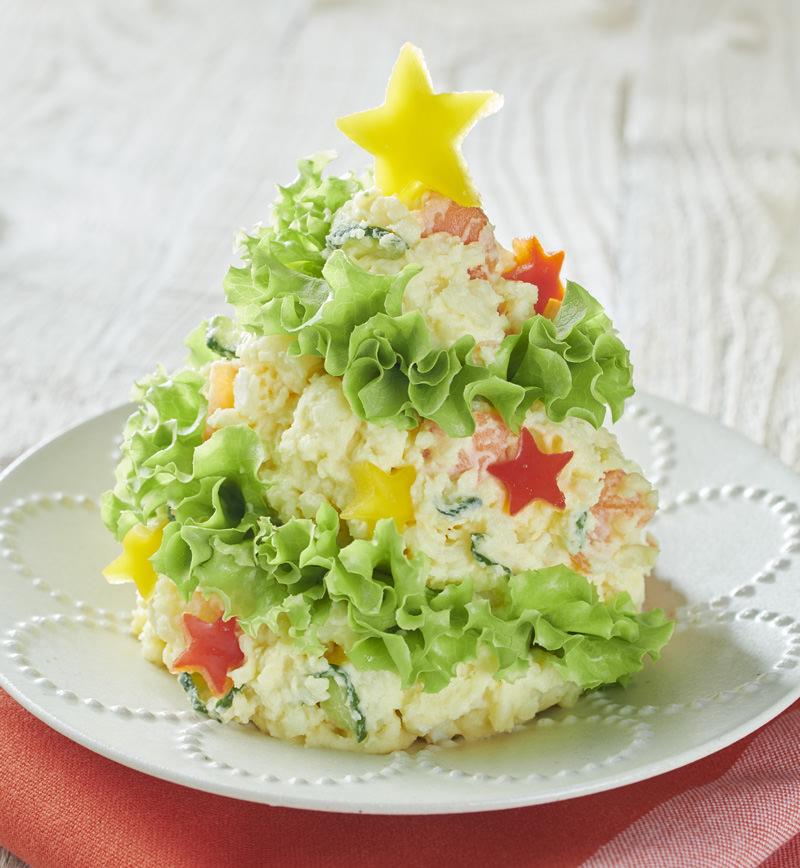 ポテトサラダでツリー! レシピ画像