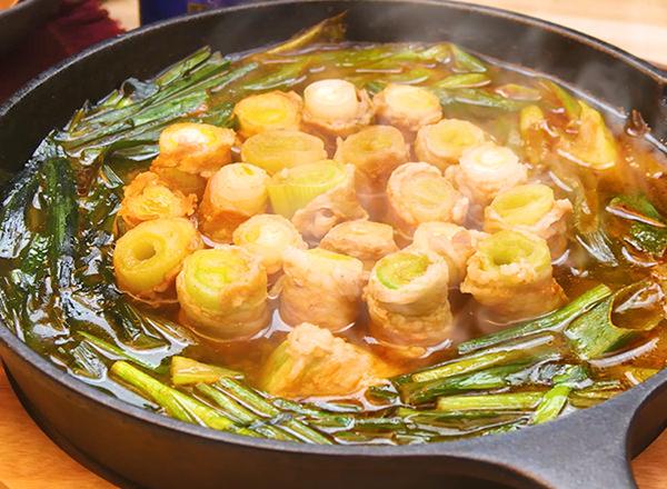 ねぎまるごと!豚巻きキムチ鍋 レシピ画像