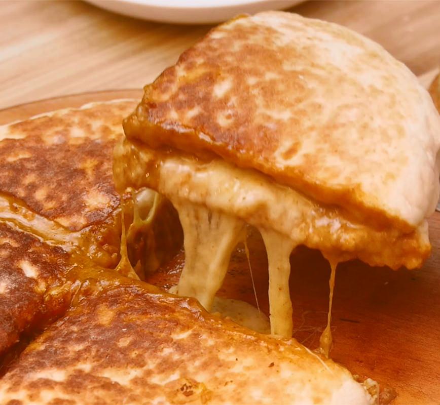チーズカレーナン レシピ画像